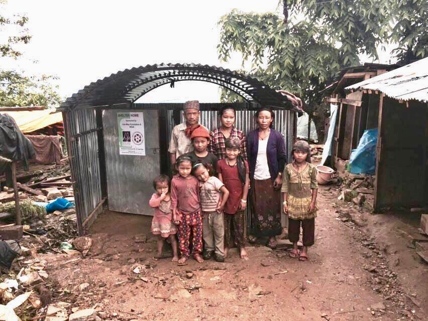 Lisa May helps build shelter homes in Nepal