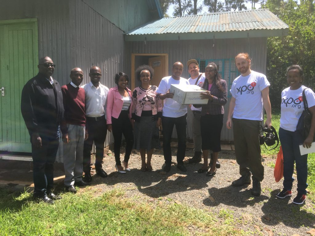 XPO2, thanks to a generous contribution from Diamond CBD, Inc. donates a 3-in-1 Scanner, Copier, Printer to The Reason to Hope
