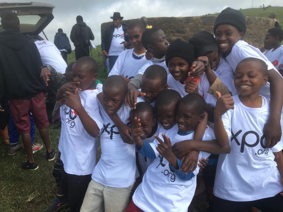 Kids from local group homes come together to plant trees.