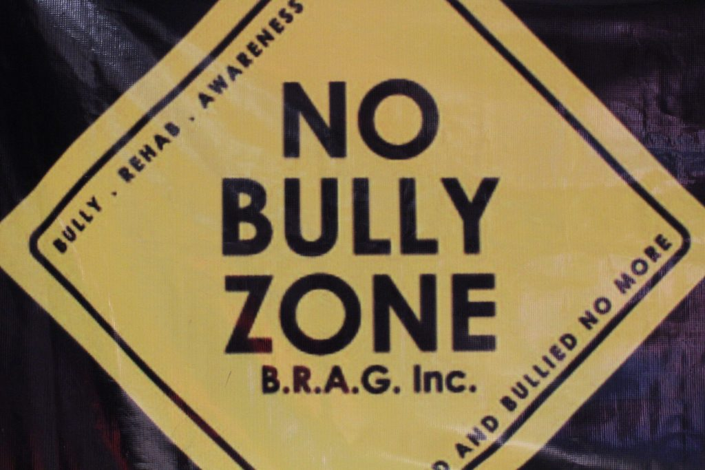 "Carlos Flores' ""No Bully Zone"" at the Bully Rehab Awareness Gym."