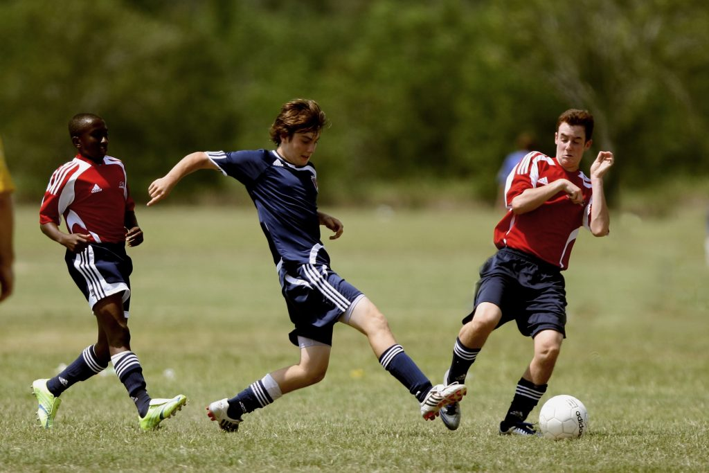 Youth soccer helps to promote the 3 C's: Caring, Courageous and Consistent.